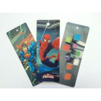 Quality PET 3D Lenticular Personalized Book Marks With CMYK Printing 0.65 mm Thick wholesale