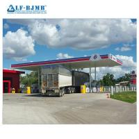Buy cheap High Quality Waterproof Design Space Frame Gas Petrol Station Canopy Steel from wholesalers