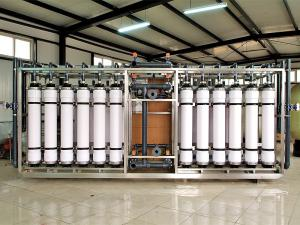 China Butterfly Valve / Ball Valve Ultrafiltration Membrane System , 100 T/H RO Ultrafiltration Machine on sale