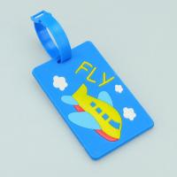 Cheap funny airplane hard PVC card luggage tag for sale