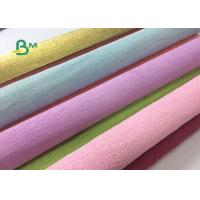 Quality Colored Double Sided Crepe Paper Roll 52cm x 250cm For Decorations wholesale