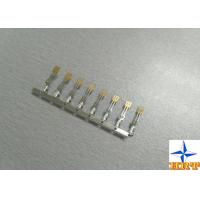 Cheap brass material Gold - Plated Signal Wire To PCB crimp Connectors terminals with for sale