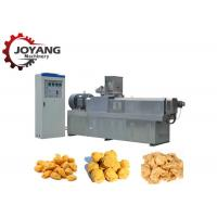 Buy cheap Tvp Soya Vegetarian Meat Muscle Protein Double Extruder Machine Soya Chunks from wholesalers