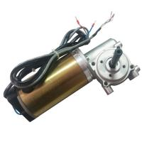 Quality With Honeywell Encoder Brushed DC Automatic Sliding Door Motor 24V DC Worm Gear Box Long shaft wholesale