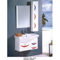 Quality Aluminium handles wall hung bathroom vanities cabinets optional Waste drain wholesale