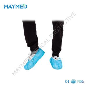 China Blue Super Sticky PP PE Disposable Surgical Shoe Covers on sale