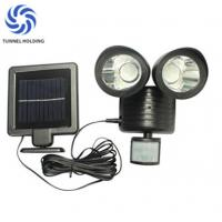 Quality Dual Head lamp Solar Flood Lights Warm / White Color For Home Garden / Lawn wholesale