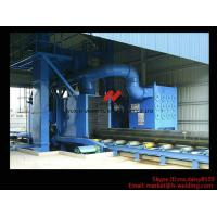 Quality Roller Type H Beam Sand Blasting Machines With 8 Shot Blaster And Dust Collection System wholesale