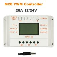China Whaleflo 20A MPPT and PWM mode Solar charge Controller 12V 24V Auto Work Solar Panel regulator LCD display on sale