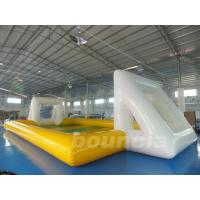 Quality Huge Inflatable Football Field, Air Sealed Inflatable Soap Soccer Field wholesale