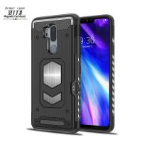 China PC TPU Armor Smartphone Protective Case For LG G7 With Strong Magnetic And Card Slot on sale