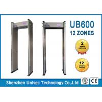 Quality 18 Zones Door Frame Metal Detector 6 Digitals LCD Counter For Airport / Train Station wholesale