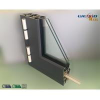 Quality Gray Color Double Layers Glass Aluminium Window Profiles / Combined Windows wholesale