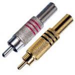 Quality Metal Spring  Male Audio RCA Cable Connectors , RCA Plug Connectors 24K wholesale
