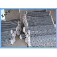 China 5mm Diamond Low Carbon Galvanized Chain Link Fence Construction Quick To Install on sale