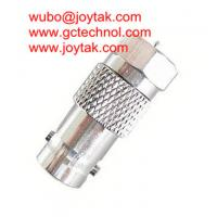 Buy cheap BNC Female To F Male all brass nickel plated Coaxial Adapter BNC Coaxial Adaptor CCTV coax Connector / BNCF.FM.02 from wholesalers