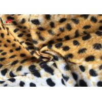 China Leopard Print 100 Polyester Fabric Stretch For Blanket Toys Customized Patterned on sale