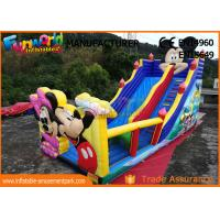Quality Pvc Mickey Mouse Commercial Inflatable Bounce House With Slide Easy To Carry wholesale