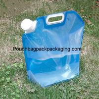 China 5L stand up spout pouch for water, plastic water bag foldable on sale