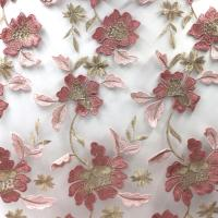 Quality Latest African Lace Fabric Embroidered African Flower Guipure French Lace Fabric With Stones wholesale