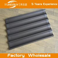Cheap Factory wholesale bread baking aluminum sheet-baking cake aluminum tray-on-stick french baguettes baking tray for sale