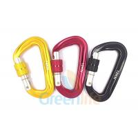 Buy cheap Auto Lock Marine Snap Hook , D Shape Big Size Rock Climbing Carabiner Colorful from wholesalers