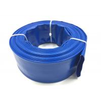 Quality Blue PVC Layflat Hose Aging Resistant Agricultural Irrigation PVC Water Pump Pipe For Water Discharge wholesale