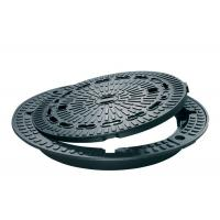 China Circle Ductile Cast Iron Manhole Cover , Heavy Duty Cast Iron Trench Grating on sale