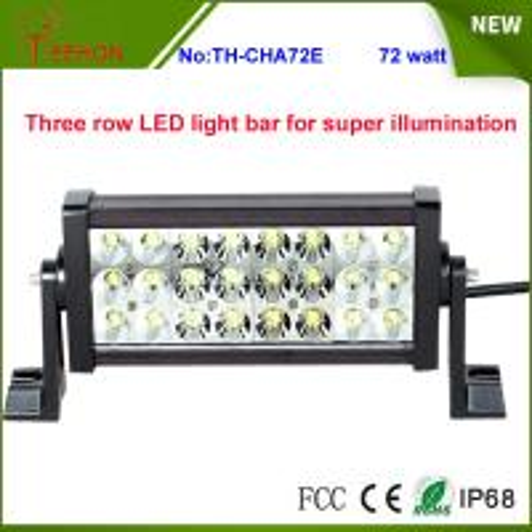 Cheap Super Bright IP67 Waterproof Three Row LED Light Bar