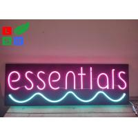 Quality Neon Window Signs With DC 12 Volt Black Backing Pink Words Using At Home wholesale
