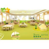 China Healthy Safe Kindergarten School Furniture Burr Free Attrative Colors Wood Material on sale