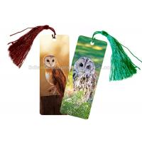 Quality Eco - Friendly Kids 3D Lenticular Custom Plastic Bookmarks With 0.6mm PET For Gift / Premium wholesale