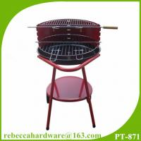Quality 2015 hot selling professional outdoor 18 inch simple round charcoal bbq grill with wheels wholesale