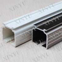Quality Wooden Grain European Fixed Aluminium Sliding Door Profiles Consist with Turn / Tilt Door wholesale