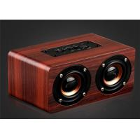 Quality Wooden Bluetooth Stereo Speaker 10W Wireless Portable Speaker Dual Loudspeakers HIFI Subwoofer with Mic TF Card Slot AUX wholesale