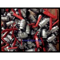 Quality 2PC Body Screwed End 1000PSI Stainless Steel Ball Valves A351 CF8 / CF8M / CF8C wholesale
