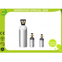Quality Seamless Alumnium Compressed Gas Tank For Medical Aid , Cylinder Gas Tank wholesale