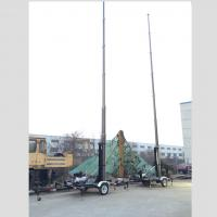 Quality 18m trailer mast tower system/pneumatic telescopic mast/ mobile trailer system/ telecommunication tower mast wholesale