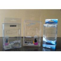 China custom printed packaging transparent plastic clear pvc box on sale
