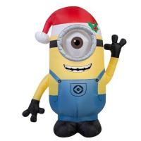 China Factory Customized Christmas Holiday Yard Decoration Inflatable Minion Display on sale