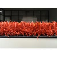 Quality 25mm Coloured Artificial Grass , Decorative Red Artificial Turf For Park wholesale