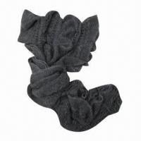 Quality Winter knitted scarf, fashionable pattern style with lurex, made of soft acrylic, suitable ladies wholesale