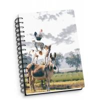 Quality Depth Effect A4 A5 A6 3D Lenticular Notebook For Student Stationery Eco-friendly wholesale