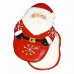 Quality Christmas Ceramic/Glaze Jewelry Box with Santa Design wholesale