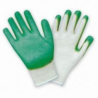 Quality Economic Gloves with Green Palm Latex Coating wholesale