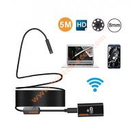 Quality Wireless Endoscope, WiFi Borescope video Inspection Camera with 2.0MP HD Snake Camera with 8 adjustable LED Light wholesale