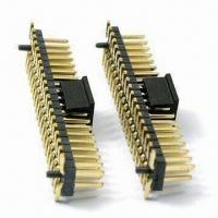China PCB Connector with 2.0mm Thickness Plastic Base and 1A Current Rating on sale