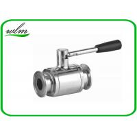 Quality Portable Sanitary Full Port Ball Valve , Stainless Steel Ball Valve For Food Industry Piping System wholesale