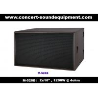 "Cheap Disco Sound Equipment / 2x18"" Direct Reflex 4ohm 1200W Subwoofer For Concert , Nightclub And Living Event for sale"