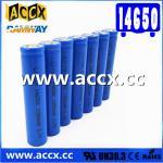 cordless telephone battery ICR14650 3.7V 1050mAh li-ion batteries 14650, 14500, 18500, 18650, 26650 for led light